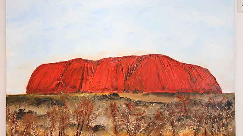 Australien in Bad Camberg: der Uluru